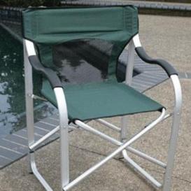 Buy Faulkner 43948 Directors Chair Aluminum Green - Camping and Lifestyle