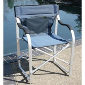 Buy Faulkner 2080 Directors Chair Aluminum Blue - Camping and Lifestyle