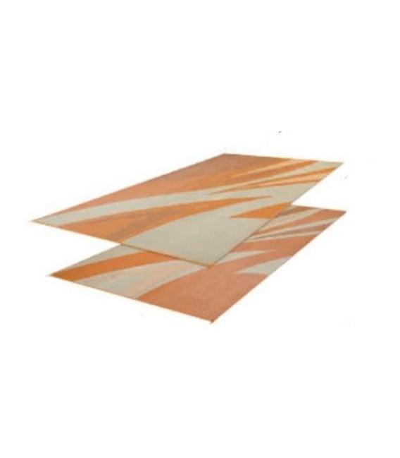Buy Faulkner 45638 Patio Mat Summer Waves 8X16 Tan Gold - Camping and