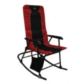 Buy Faulkner 49596 Dakota Folding Rocking Chair Burgundy/Black - Camping