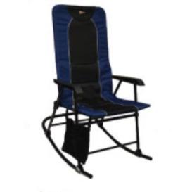 Buy Faulkner 49598 Dakota Folding Rocking Chair Blue/Black - Camping and