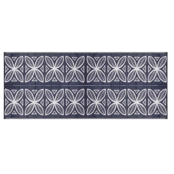 Buy Camco 42831 Blue Botanical Awning Leisure Mat 8' X 20' - Camping and