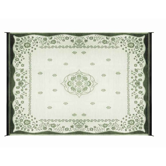 Buy Camco 42850 Green Oriental Awning Leisure Mat 9' x 12' - Camping and