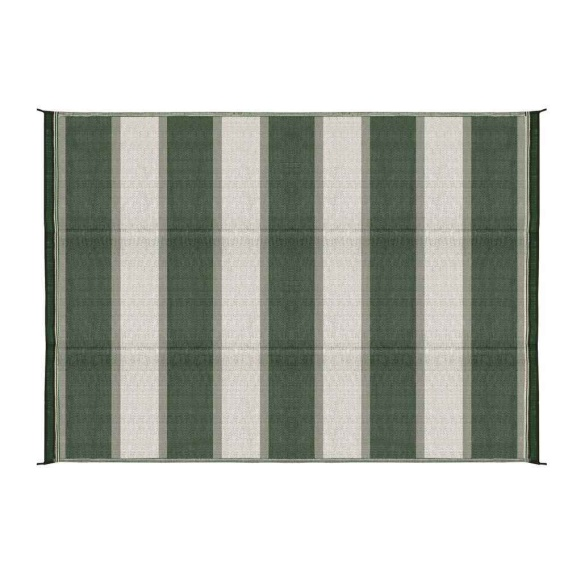 Buy Camco 51856 Reversible Patio Mat 6X9 Stripe Green - Camping and
