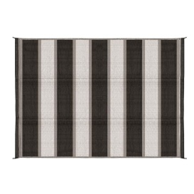 Buy Camco 42853 Charcoal Stripe Awning Leisure Mat 6' X 9' - Camping and