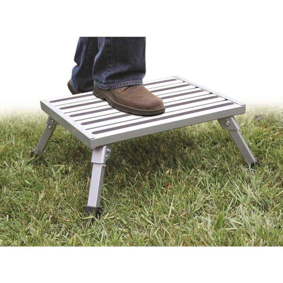 Buy Camco 43677 Folding Aluminum Platform Step - Step and Foot Stools