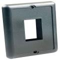 IP66 Single Switch Plate Black