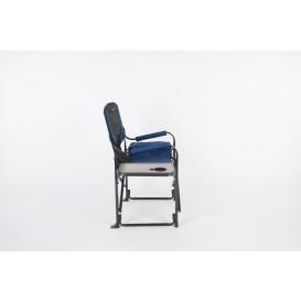 Buy Faulkner 49581 El Capitan Directors Chair Chrome Blue/Black - Camping