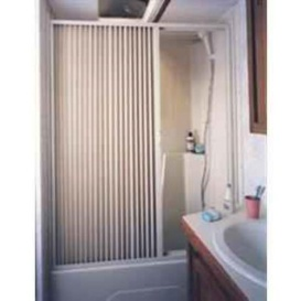 Buy Irvine Shade 6057SW Pleated Shower Door- White - Tubs and Showers