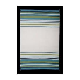 Mat Striped 8X20 Aqua/Navy/Lime/White