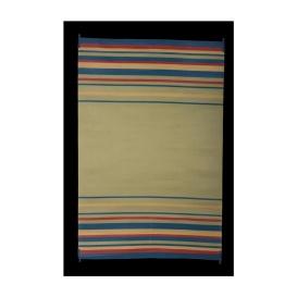 Mat Striped 9X12 Blue/Brick/Beige/Green