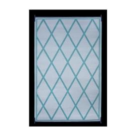 Mat Diamond 8X20 Turquoise/White