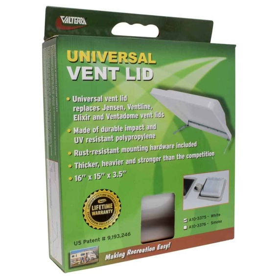Buy Valterra A10-3375 Univ. Vent Lid White 1/Box - Exterior Ventilation