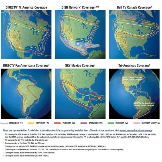 Buy KVH 01-0369-07 TracVision TV6 - w/Circular LNB for North America -