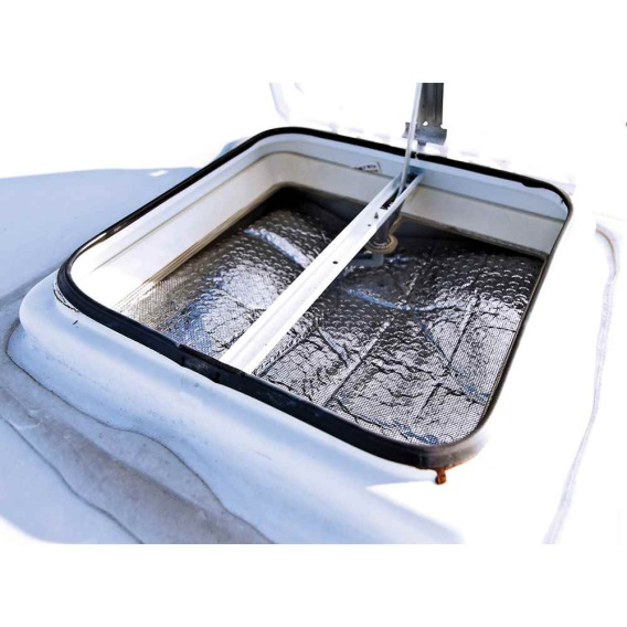 """RV Vent Insulator And Skylight Cover With Reflective Surface, Fits Standard 14"""" RV Vents"""