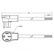 Surge Guard Flex 50A Power Cord Male Only 15'   NT69-9938  - Power Cords - RV Part Shop USA