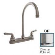 Dura Faucet J-Spout RV Kitchen Faucet Chrome POL   NT10-3815  - Faucets - RV Part Shop USA