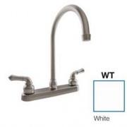 Dura Faucet J-Spout RV Kitchen Faucet White   NT10-3816  - Faucets - RV Part Shop USA