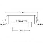 Firestone Ind 3 Gallon Air Tank   NT92-2023  - Handling and Suspension - RV Part Shop USA