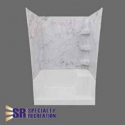 Specialty Recreation Shower Wall 24X32X66 Great Smky Mnt  NT62-2495  - Tubs and Showers - RV Part Shop USA