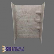 Specialty Recreation Shower Wall 24X40X66 Grand Teton  NT62-2498  - Tubs and Showers - RV Part Shop USA