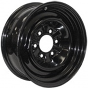 Americana 15X6 Trailer Wheel Conventional 5H-4.5 Black 2.62P   NT17-0330  - Wheels and Parts - RV Part Shop USA