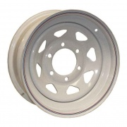 Americana 16X6 Trailer Wheel Spoke 8H-6.5 White Striped   NT21-0016  - Wheels and Parts - RV Part Shop USA