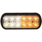 Buyers Products LIGHT,STROBE,5IN,1/2 AMBER, 1/2 CLE  NT62-2337  - Emergency Warning - RV Part Shop USA