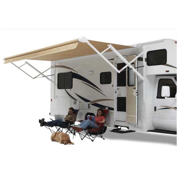 Buy Carefree QJ178A00 Pioneer Springless Awning Roller/Fabric Sierra Brown