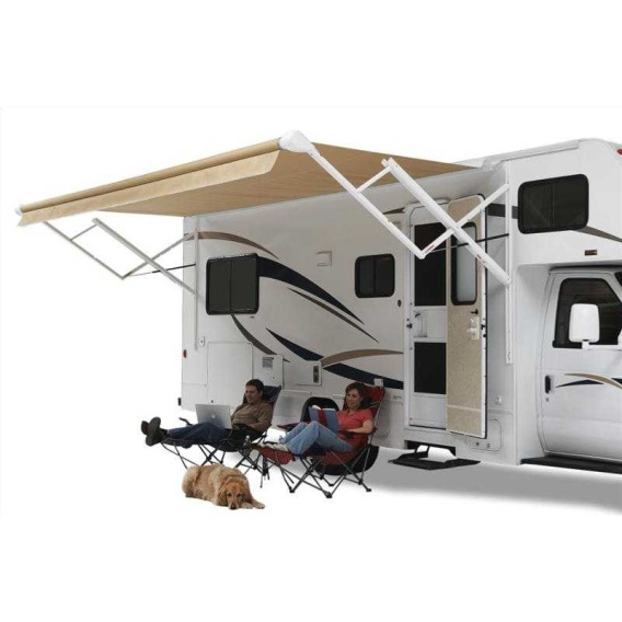 Buy Carefree QJ198A00 Pioneer Springless Awning Roller/Fabric Sierra Brown