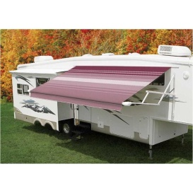 Pioneer Springless Awning Awning Bordeaux Stripe 14'