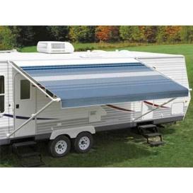 Buy Carefree EA158E00 Fiesta Springload Awning Awning Ocean Blue Stripe