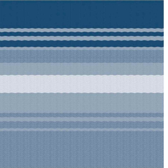 Power Awning Roller/Fabric Standard Vinyl Ocean Blue Stripe 17'