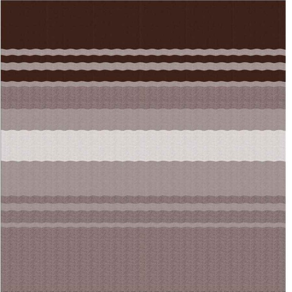 Fiesta Springload Awning Roller/Fabric Sierra Brown Stripe 18'