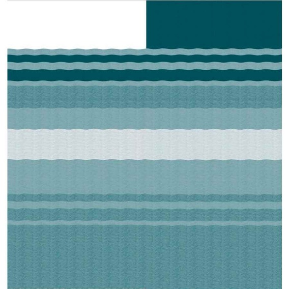 Fiesta Springload Awning Roller/Fabric Teal Stripe 19'