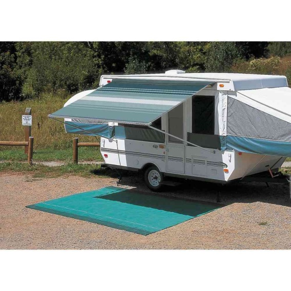 """Buy Carefree 981018A00 CampOut Bag Awning 8'5"""" Sierra Brown Stripe - Patio"""