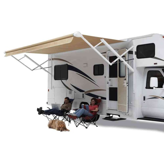 Travel'r Electric Awning Arms Black Standard (Adjustable Pitch)