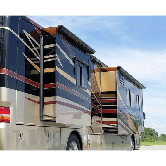 """Sideout Kover III Awning 161"""" Black w/Fabric"""