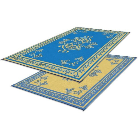Buy Faulkner 48465 Patio Mat Monte Carlo 8X20 Blue - Camping and Lifestyle