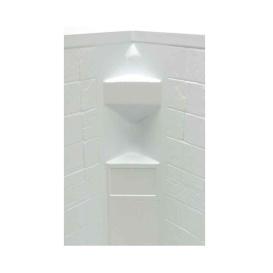 Buy Lippert 306205 White Slate 34X34X68 Neo Tile Shower Surround - Tubs