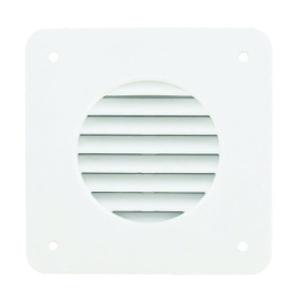 Battery Box Louver White Bulk