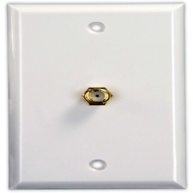 JR Products 47785 Interior Cable TV Plate