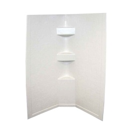 Buy Lippert 306203 Parchment Slate 34X34X68 Neo Tile Shower Surround -