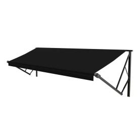 Classic Solera Manual Roller/Fabric 16 ft. Solid Black