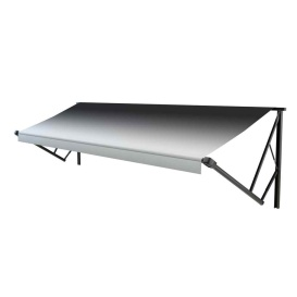 Classic Solera Manual Roller/Fabric 17 ft. Black Fade