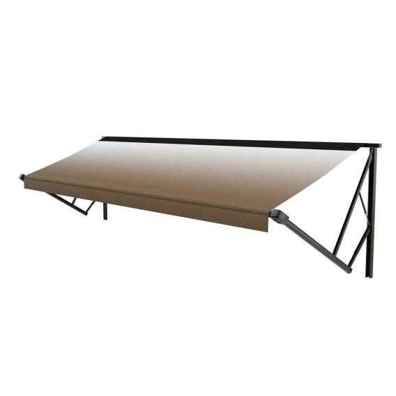 Classic Solera Manual Awning 14 ft. Sand Fade/Black