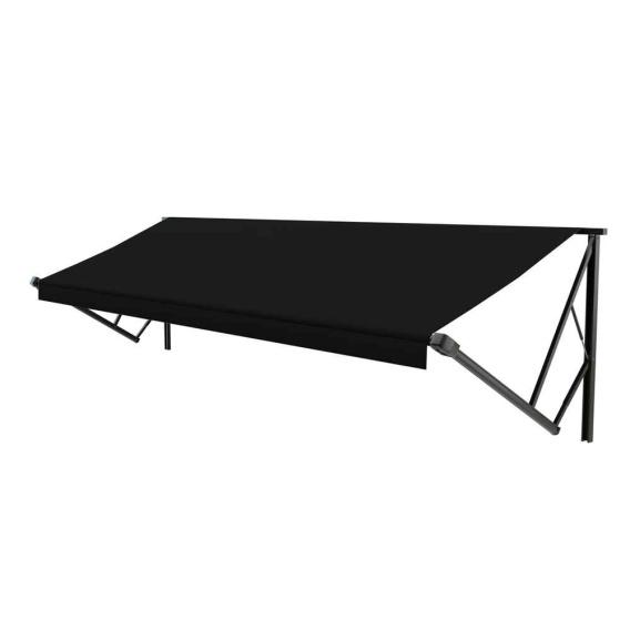 Classic Solera Manual Roller/Fabric 11 ft. Solid Black