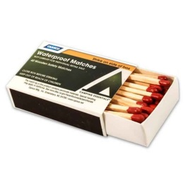 Buy Camco 51086 Waterproof Wooden Safety Match - Box of 4 - Camping and
