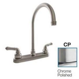 Buy Dura Faucet DF-PK330HC-CP J-Spout RV Kitchen Faucet Chrome POL -
