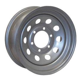 15X6 Trailer Wheel Mini Modular 6H-5.5 Silver